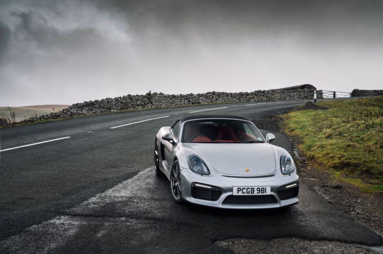 Porsche Boxster Spyder UK-spec (981) cars 2015 wallpaper