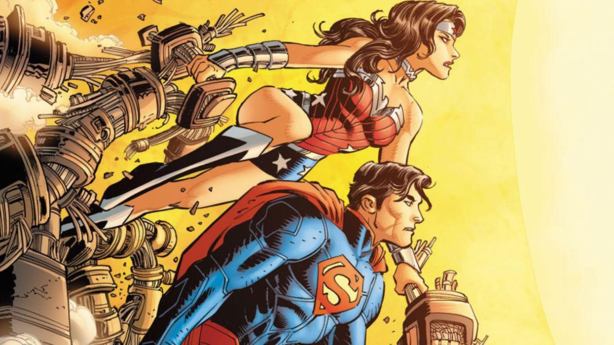 Superman and Wonder Woman wallpaper