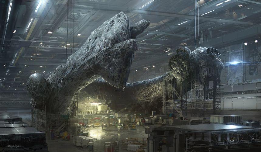 PROMETHEUS ALIEN COVENANT aliens sci-fi futuristic adventure wallpaper