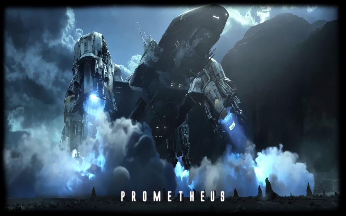 PROMETHEUS ALIEN COVENANT aliens sci-fi futuristic adventure poster spaceship wallpaper