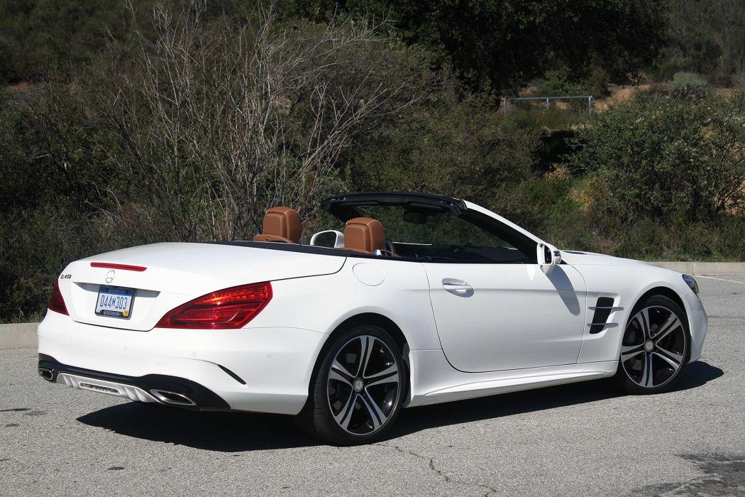 2016 Mercedes Benz SL450 cars convertible white wallpaper