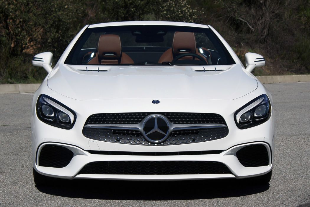 2016 Mercedes Benz SL450 cars convertible white wallpaper