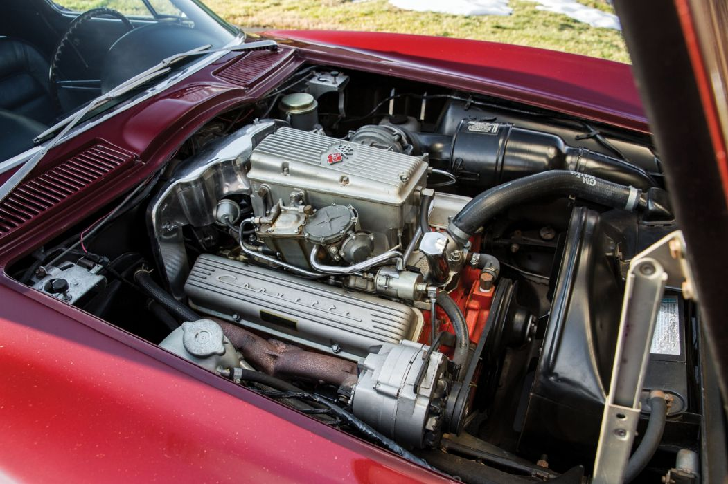1965 Chevrolet chevy Corvette Sting Ray L84 327 375 HP Fuel Injection (C2) cars coupe classic red wallpaper