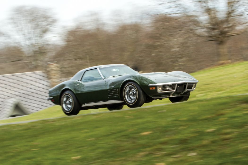1970 Chevrolet chevy Corvette Stingray LT1 350 370 HP Convertible classic cars green wallpaper