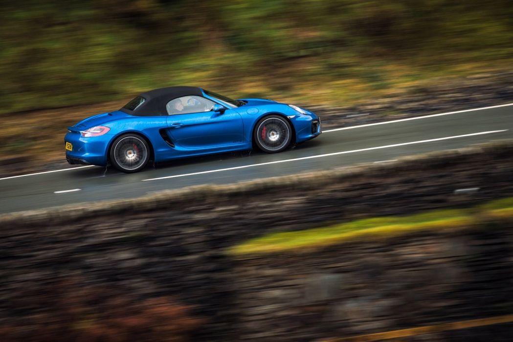 Porsche Boxster GTS UK-spec (981) cars blue 2014 wallpaper