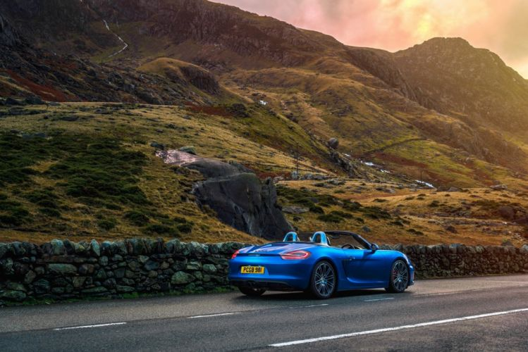 Porsche Boxster GTS UK-spec (981) cars blue 2014 wallpaper