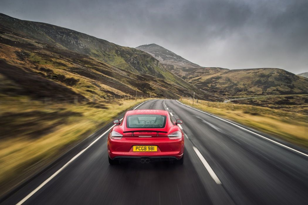 Porsche Cayman GTS UK-spec (981c) cars red 2014 wallpaper