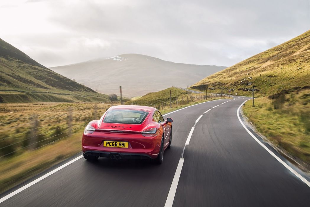 Porsche Cayman GTS UK-spec (981c) cars red 2014 wallpaper
