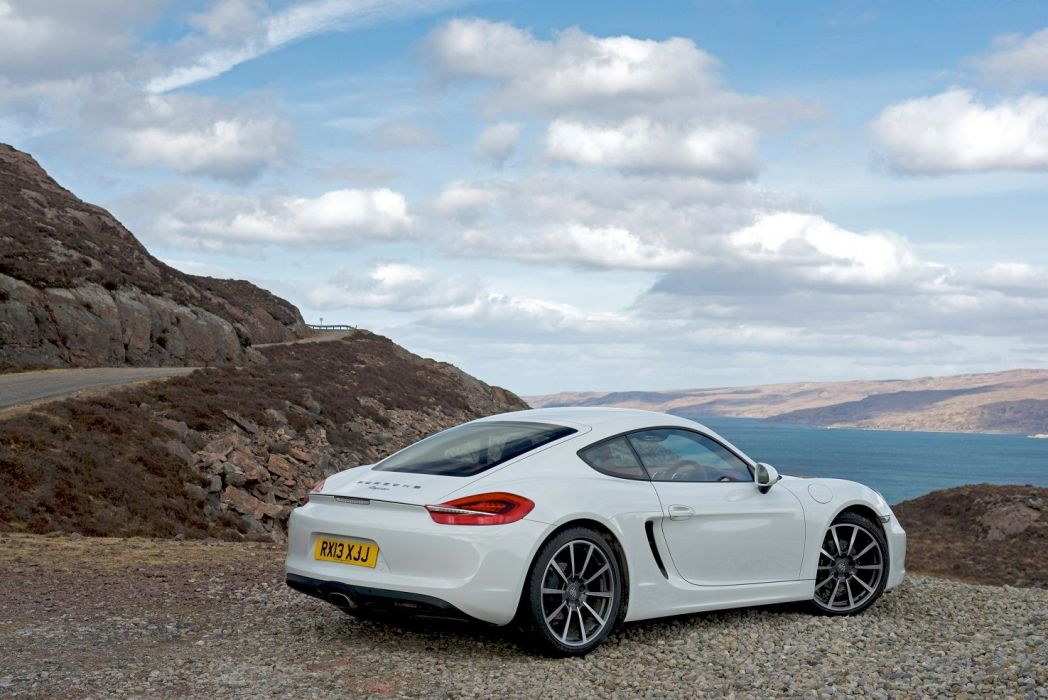 Porsche Cayman UK-spec (981C) cars coupe white 2013 wallpaper