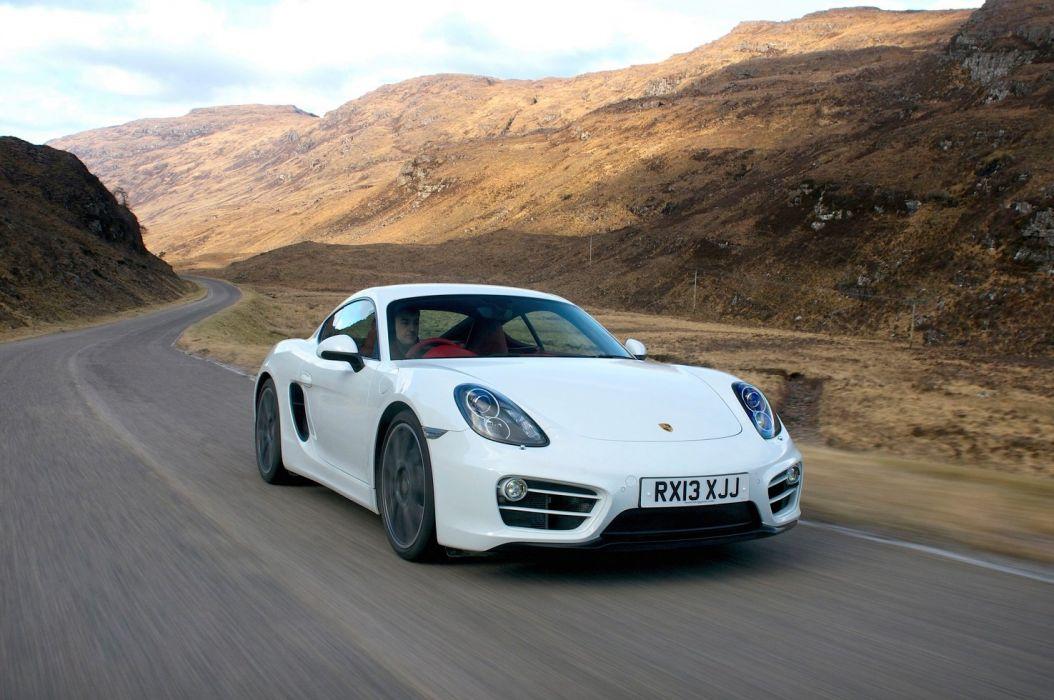 Porsche Cayman UK-spec (981C) cars coupe white 2013 wallpaper