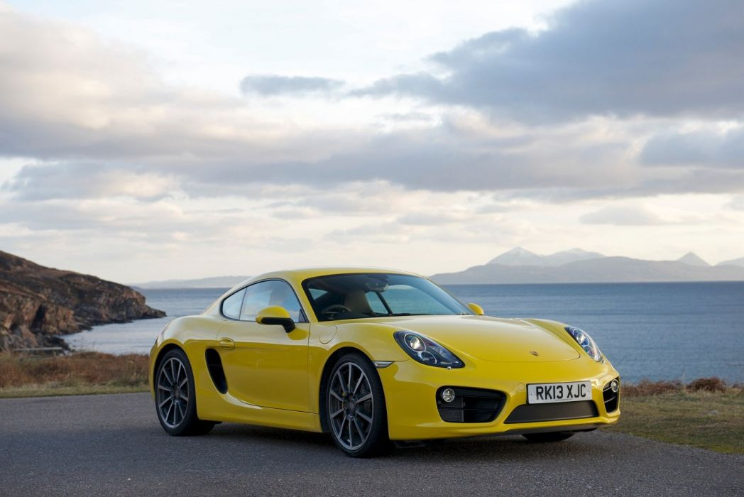 Porsche Cayman S UK-spec (981C) cars coupe YELLOW 2013 wallpaper