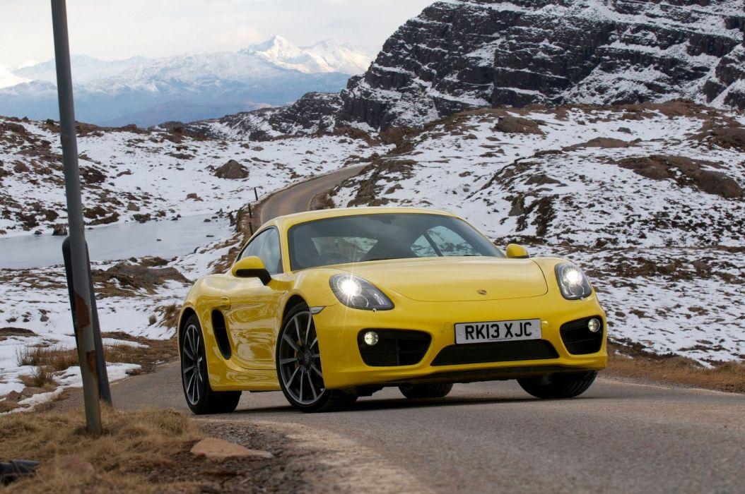 Porsche Cayman S UK-spec (981C) cars coupe YELLOW 2013 wallpaper
