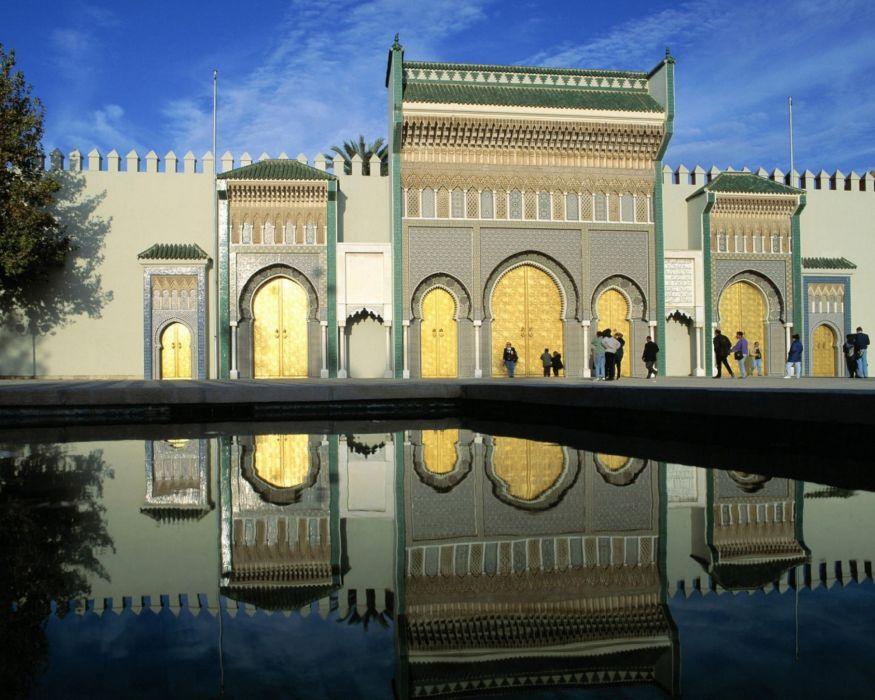 mezquita marruecos piscina arquitectura wallpaper