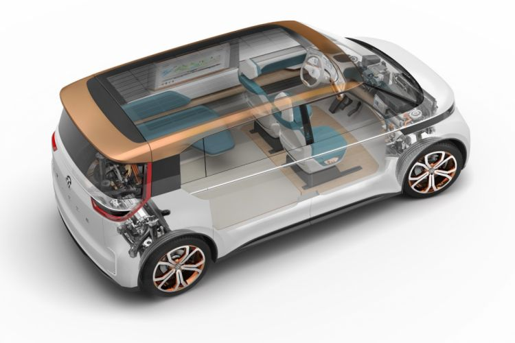 Volkswagen Budd-e Concept cars cutaway wallpaper