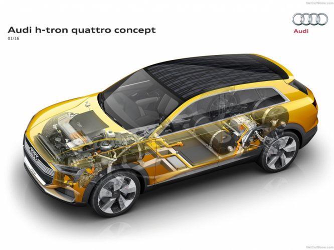 Audi h-tron quattro Concept cars cutaway wallpaper