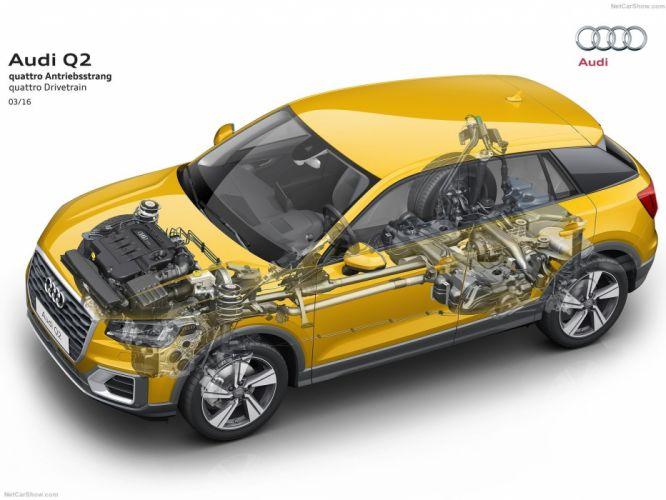 Audi Q2 cars cutaway wallpaper