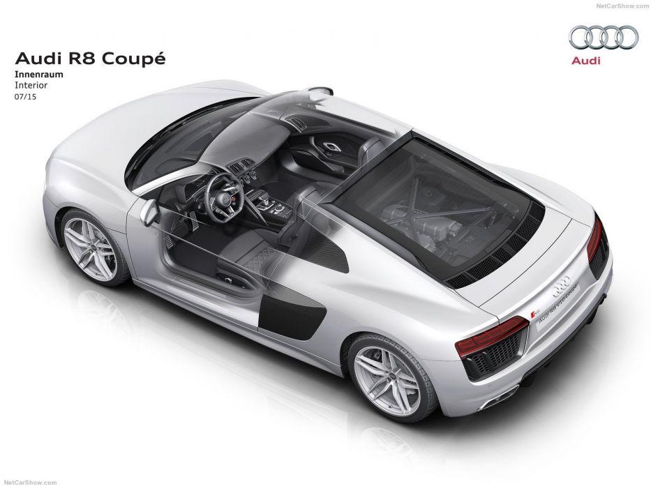 Audi R8 V10 cars cutaway wallpaper