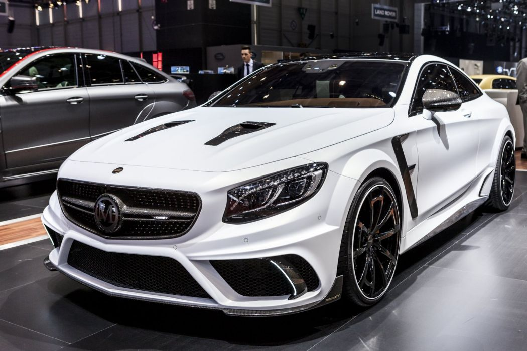 Geneva motor show 2016 Mansory S-Class S63 AMG Coupe Platinum Edition cars white modified wallpaper