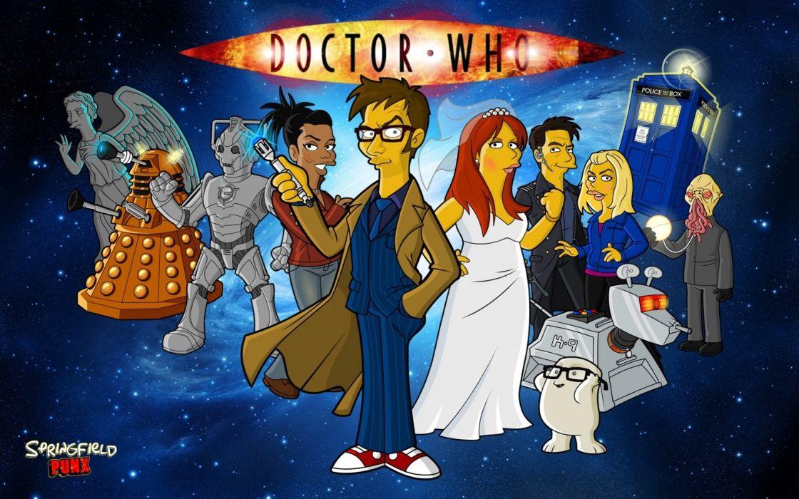 DOCTOR WHO bbc sci-fi futuristic series comedy adventure drama 1dwho poster simpsons wallpaper