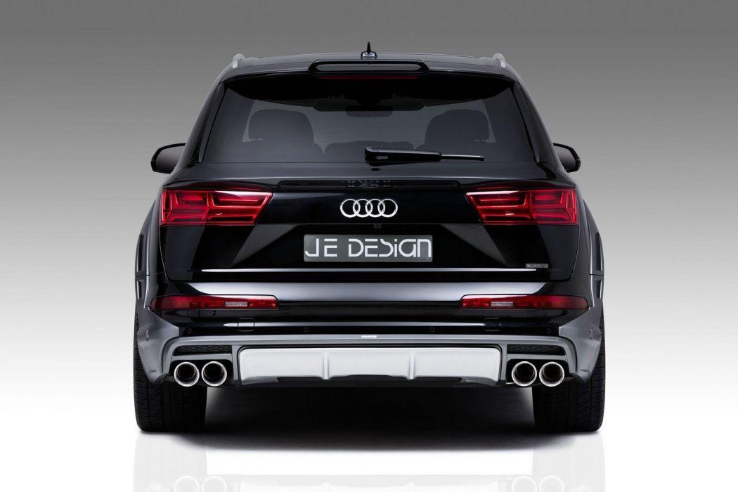 Audi Q7 JE Design cars suv black modified wallpaper