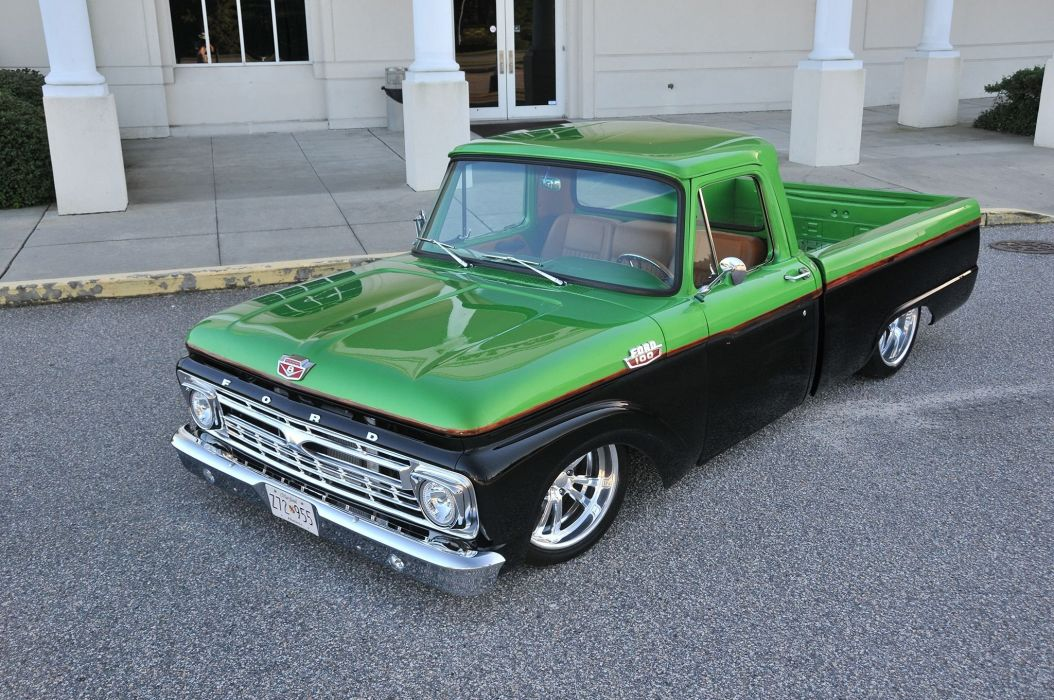 1964 Ford F-100 cars pickup modified wallpaper