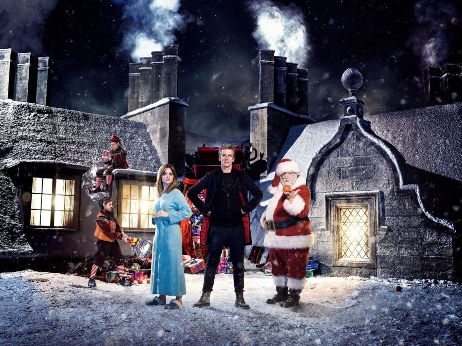 DOCTOR WHO bbc sci-fi futuristic series comedy adventure drama 1dwho christmas wallpaper
