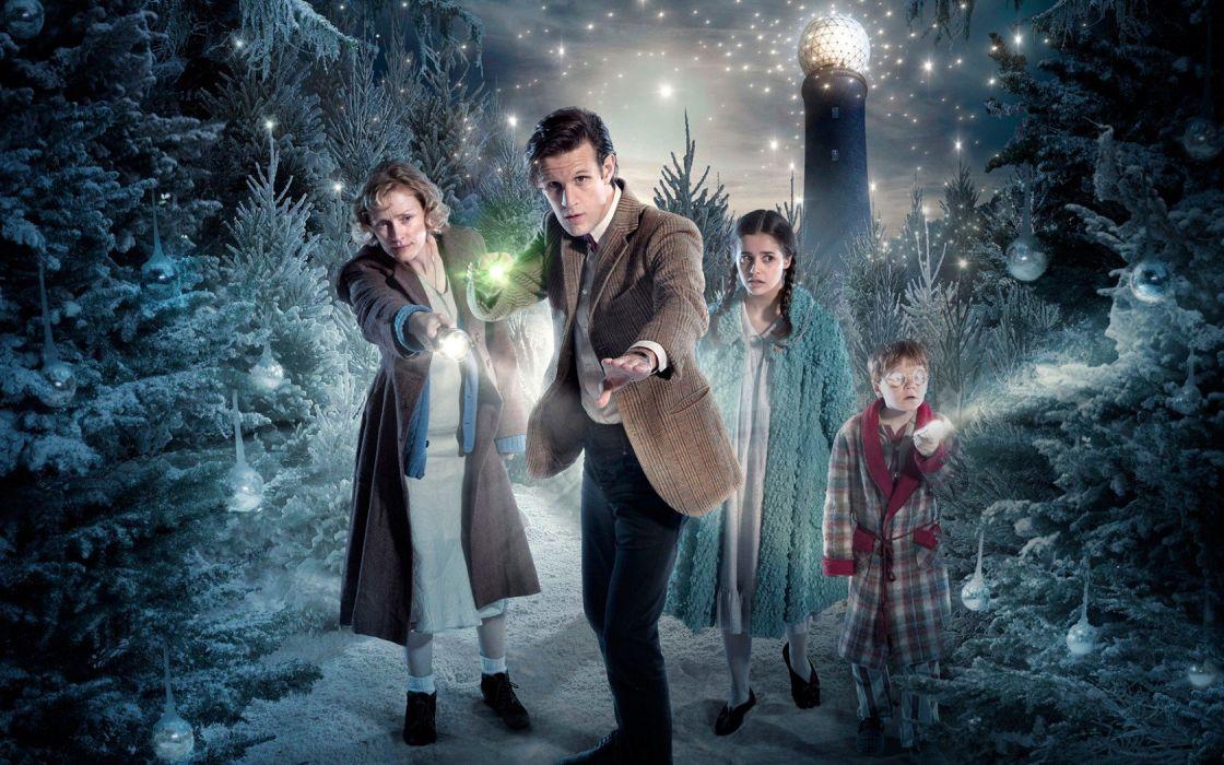 DOCTOR WHO bbc sci-fi futuristic series comedy adventure drama 1dwho christmas wallpaper