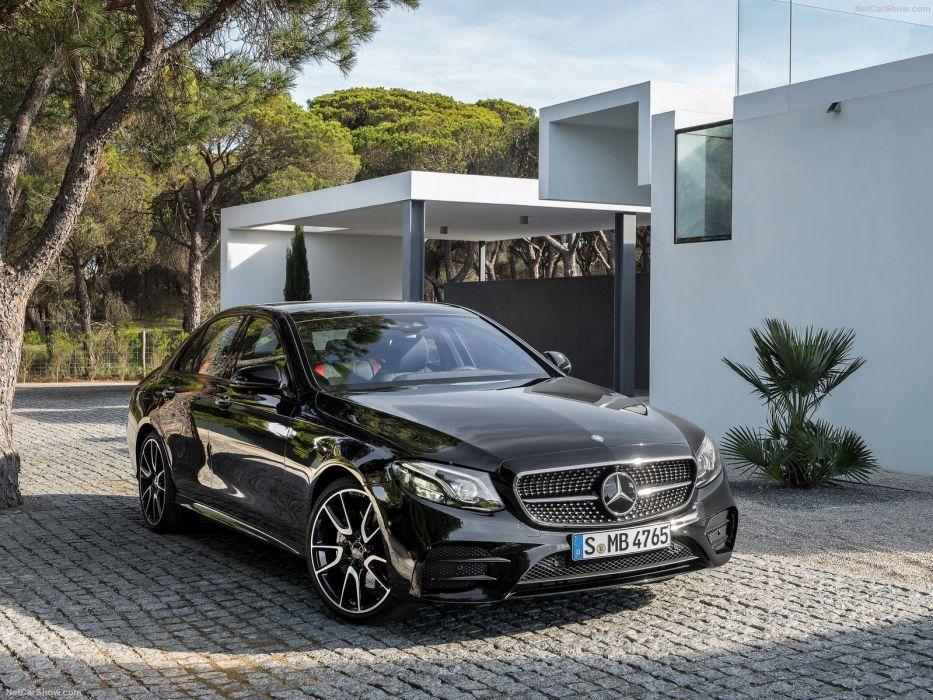 Mercedes Benz E43 AMG 4Matic cars black sedan 2016 wallpaper