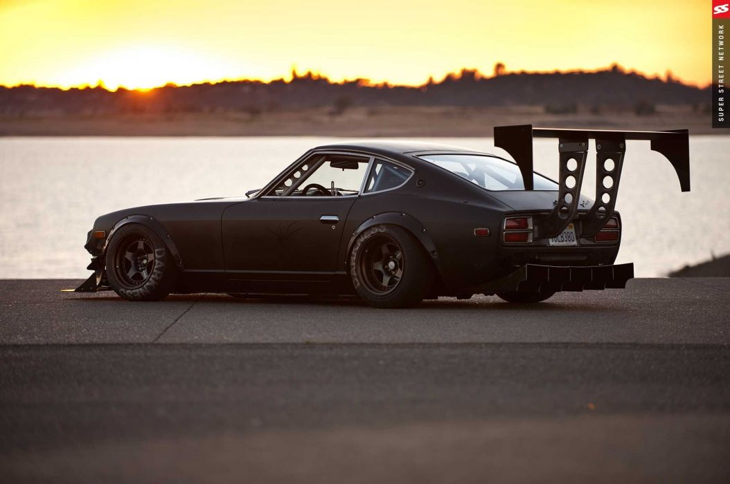 1974 Datsun 260Z cars black modified wallpaper