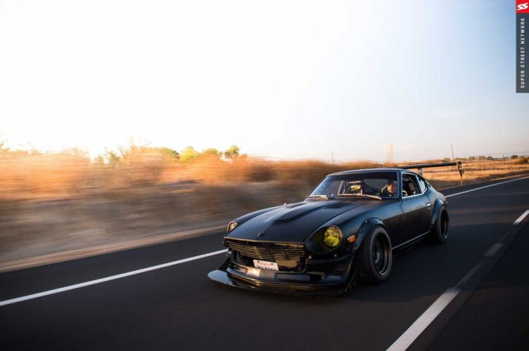 1974 Datsun 260Z cars black modified wallpaper