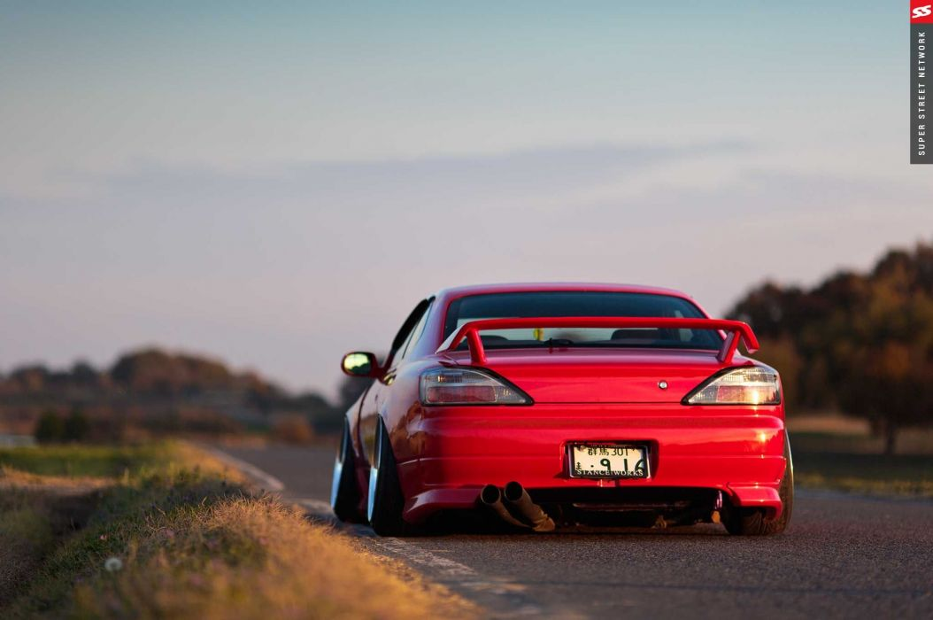 2000 nissan silvia s15 cars red modified wallpaper