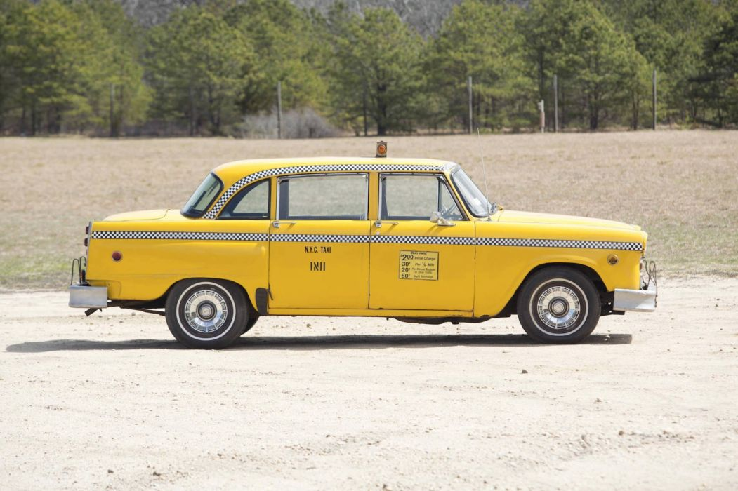 1965 Checker Marathon Taxi NYC yellow cars classic wallpaper