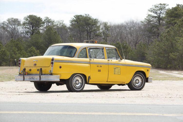 1965 Checker Marathon Taxi NYC yellow cars classic wallpaper