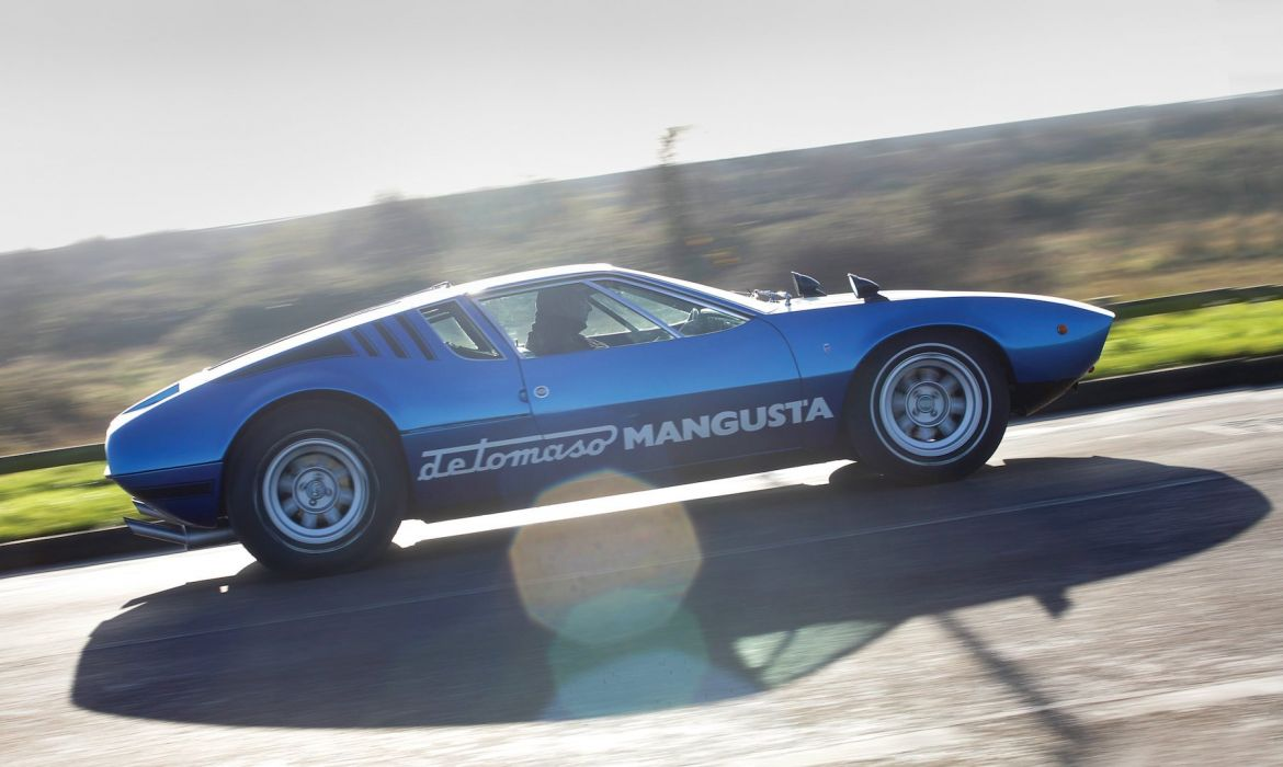 1969 De Tomaso Mangusta blue coupe cars classic wallpaper