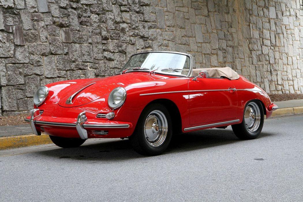 1960 Porsche 356 Roadster red cars classic wallpaper