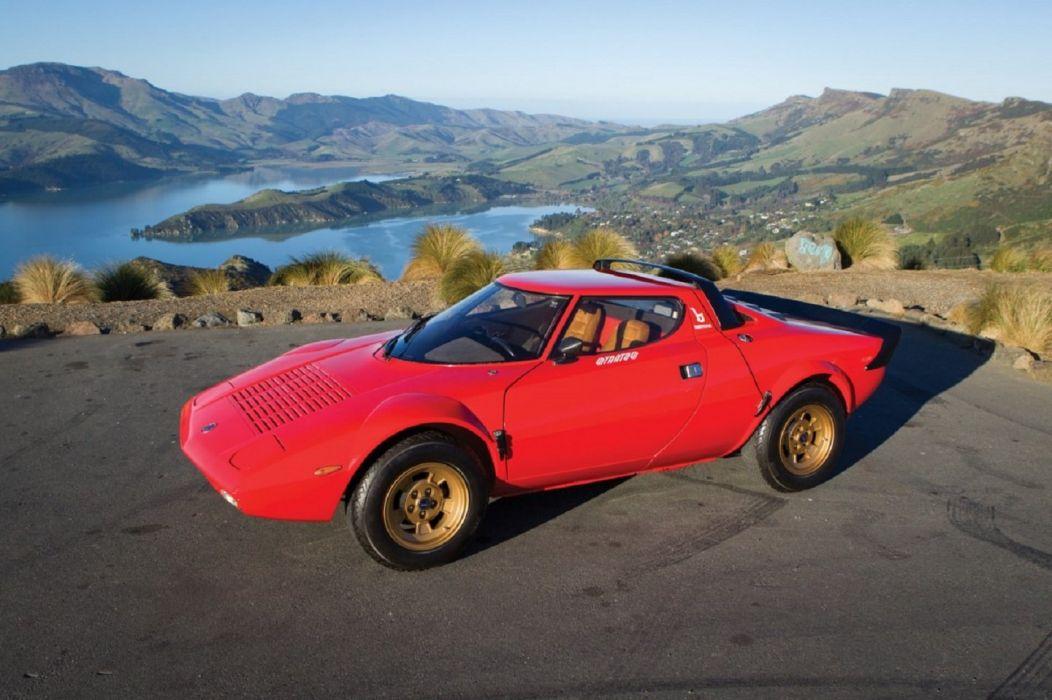 1974 Lancia Stratos HF Stradale Bertone red cars classic wallpaper