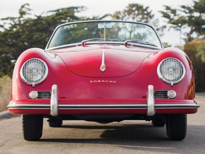 1959 Porsche 356 A 1600 Convertible D Drauz red cars classic wallpaper