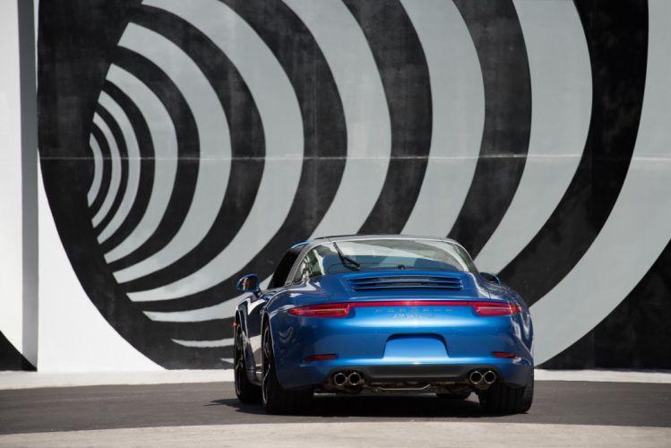 2015aei16 Porsche 911 cars Targa 4S US-spec (991) cars blue 2014 20155 wallpaper