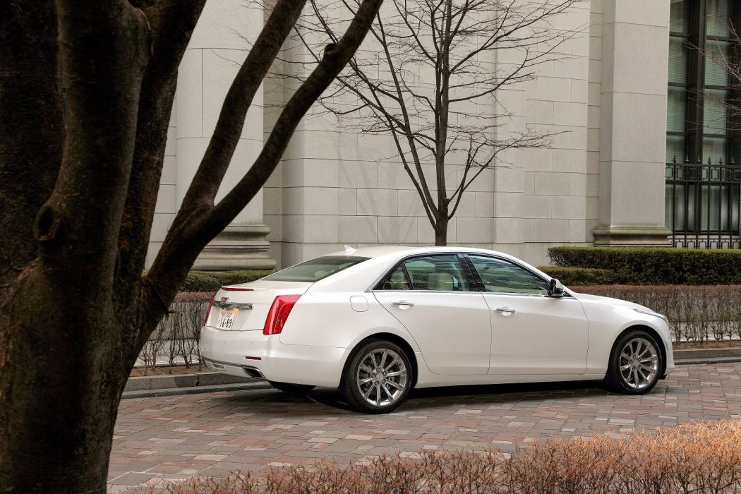 Cadillac CTS JP-spec cars white sedan 2015 wallpaper