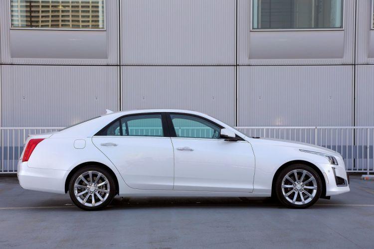 Cadillac CTS JP-spec cars white sedan 2015 wallpaper