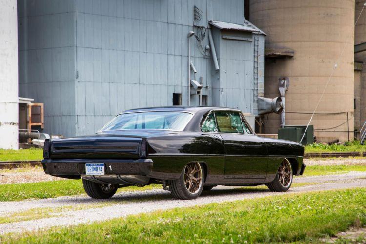1967 Nova Chevrolet chevy black cars modified wallpaper