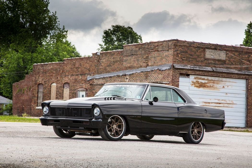 1967 Nova Chevrolet chevy black cars modified wallpaper