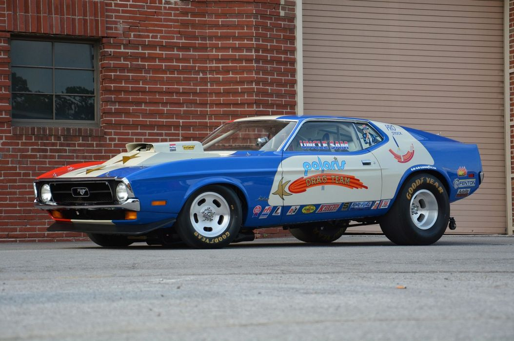 Polaris Racing 1971 ford Mustang cars modified wallpaper