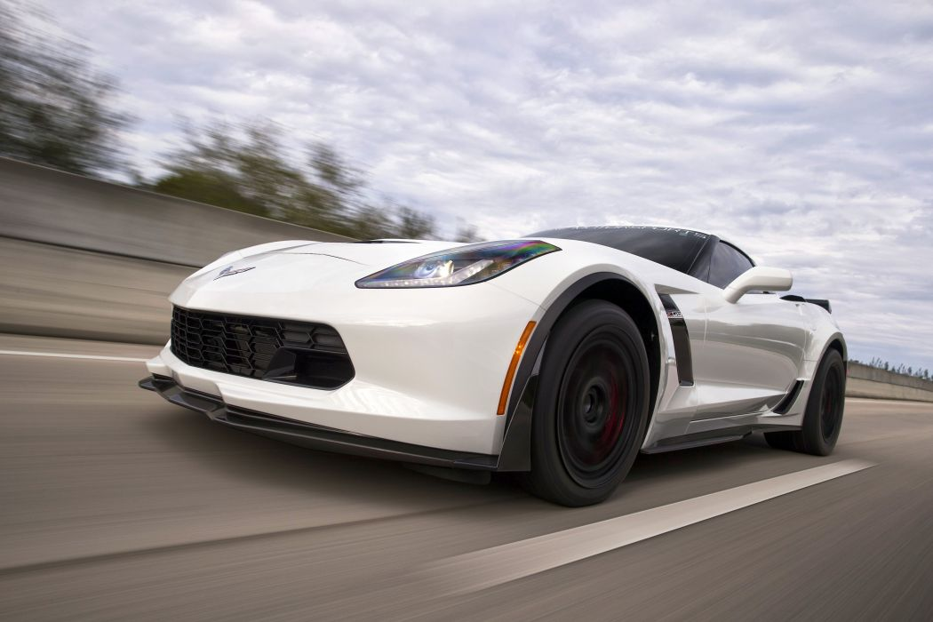 Redline 2015 chevy Corvette (C7) Z06 cars white wallpaper