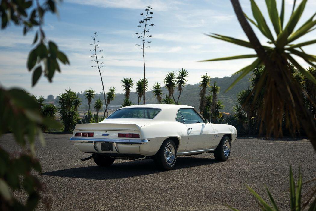 1969 Chevrolet Camaro ZL-1 COPO Dover white cars coupe wallpaper