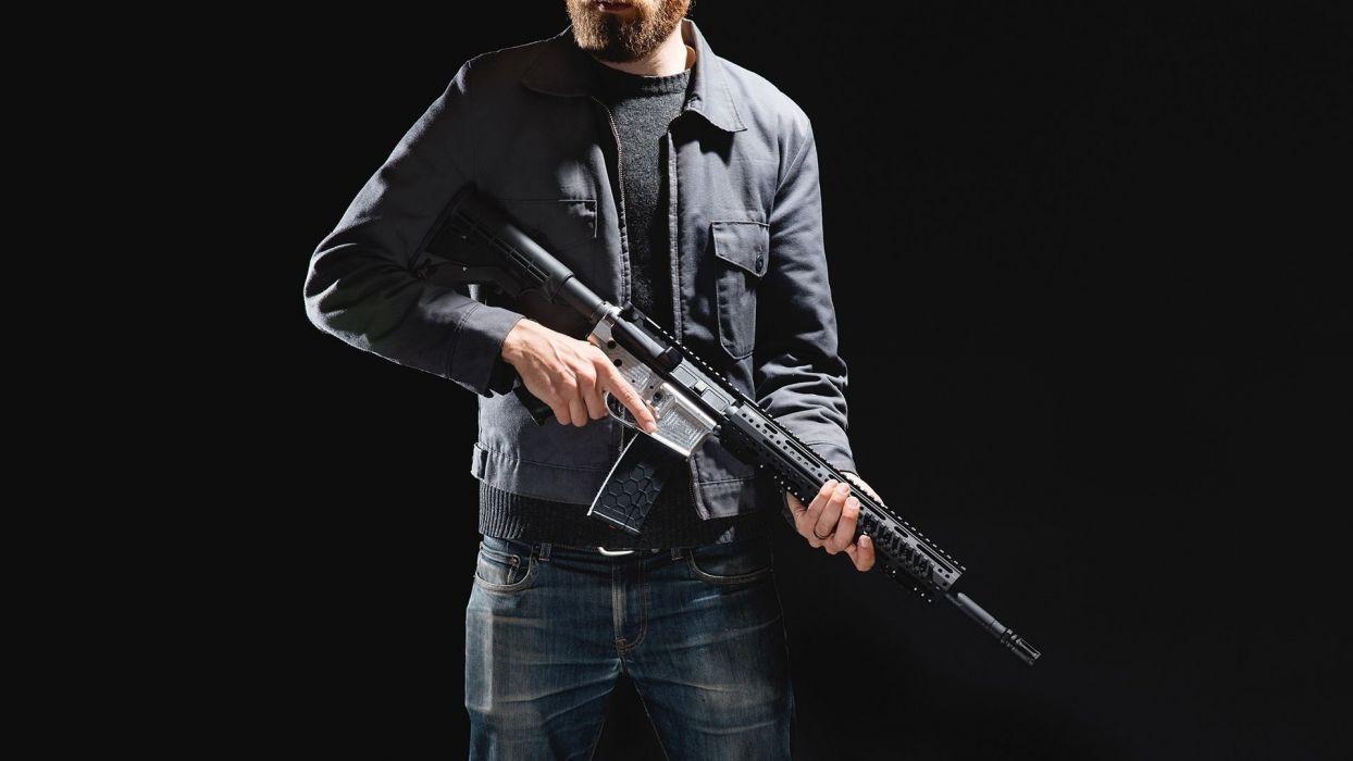 gun weapon guns weapons military machine gun assault rifle police swat wallpaper