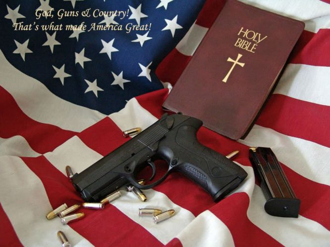 gun weapon guns weapons pistol handgun religion bible america usa wallpaper