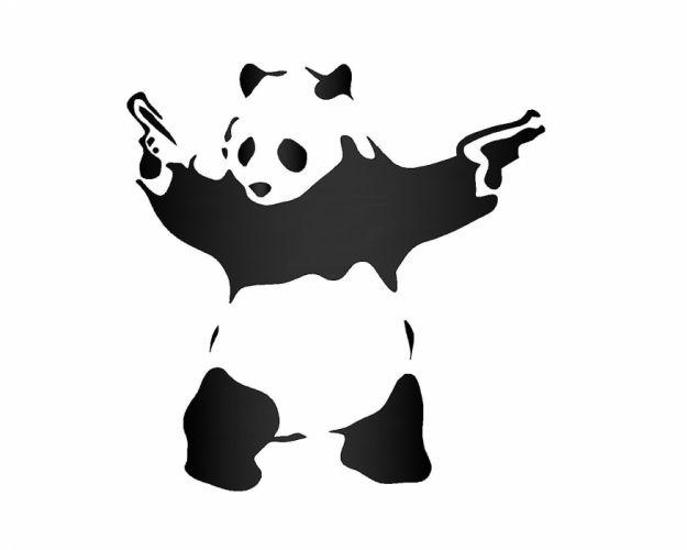gun weapon guns weapons pistol handgun panda wallpaper