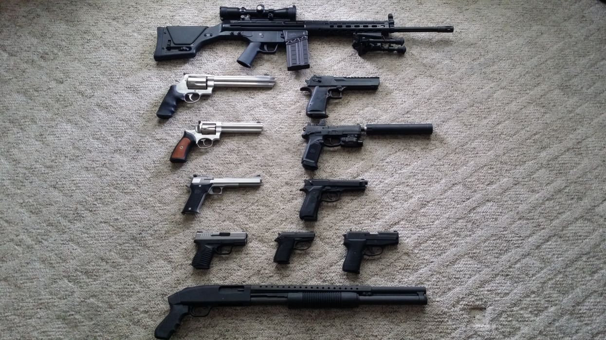 gun weapon guns weapons military machine gun assault rifle police swat pistol handgun wallpaper