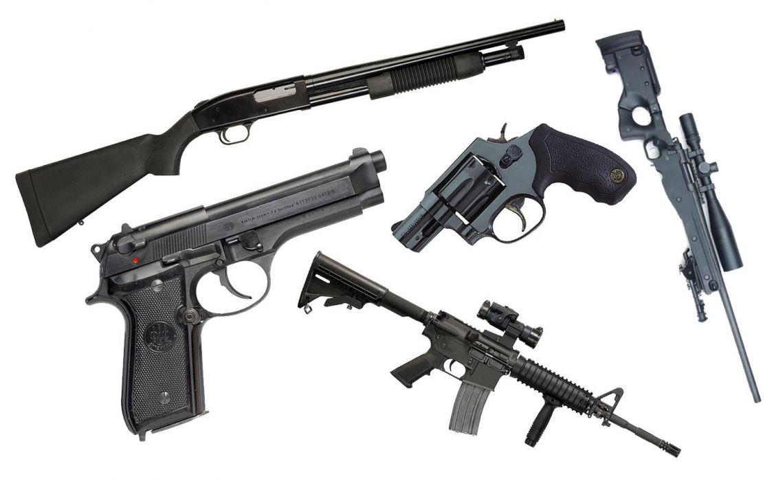 gun weapon guns weapons military machine gun assault rifle police swat shotgun pistol handgun wallpaper